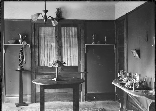 Interior view of a cottage dining room.