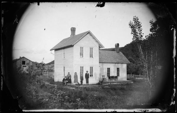 Family of Five by Plain House | Photograph | Wisconsin Historical ...