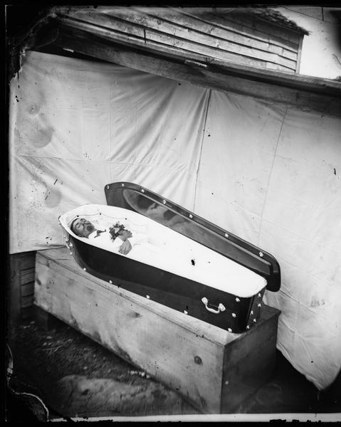 Open Casket Photograph Wisconsin Historical Society