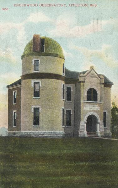 Underwood Observatory on the Lawrence College campus.