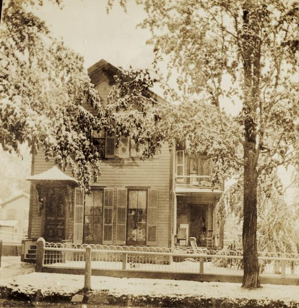 The H.W. Tenney house, built by Charles Patten in the late 1870's and bought by Mr. Tenney in the spring of 1881. The house was remodeled in 1906.