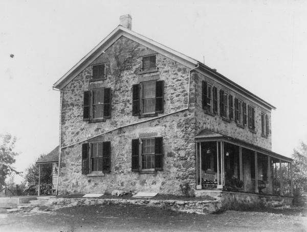 View of the Friederich Kohlmann house, built in 1867.  It is located on Highway 19, one mile east of Marxville.