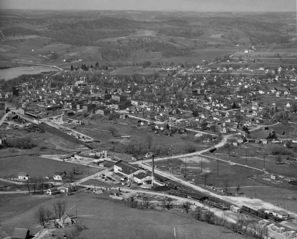 Aerial view of Hillsboro.