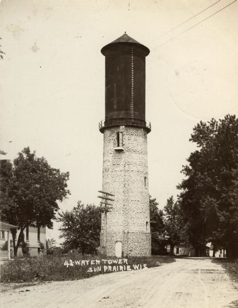 View of a watertower.
