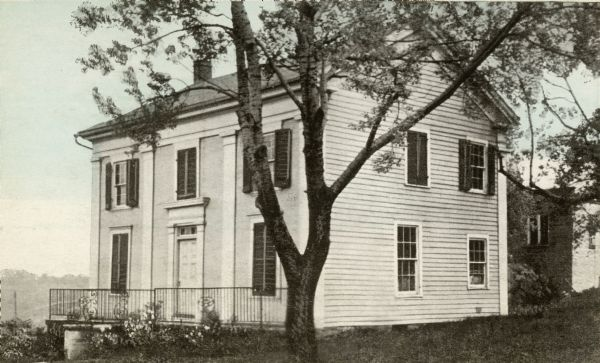 The Odd Fellows Hall, built in 1837-1838, was the first to be built west of the Allegheny Mountains. The cornerstones were laid by Thomas Widley.