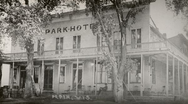 Exterior view of the Park Hotel.