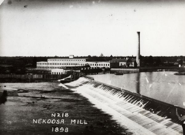 A view of the Nekoosa-Edwards Paper Company mill. Established about 1896 by John Edwards.
