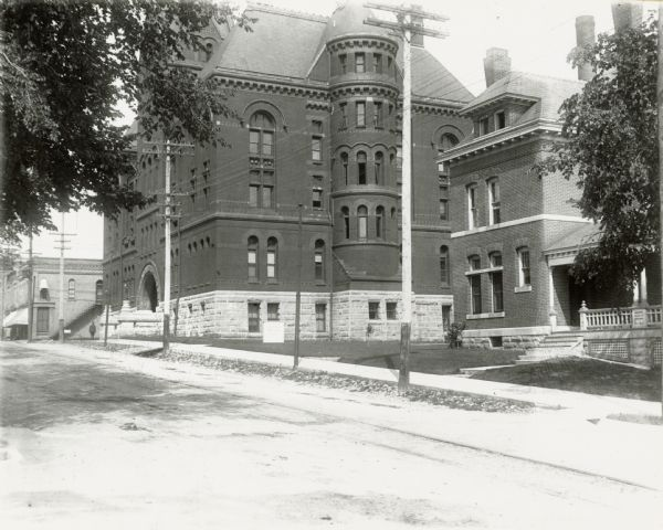 The Dane County Courthouse, 207 West Main Street, and Dane County Jail, 219 West Main Street.