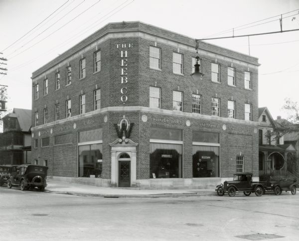 The Heeb Automotive Equipment Company building 401 West Gorham St.  They also sold Sparton Radios.  Built 1927, the building was bought by the city in 1965 in order to widen the intersection of N. Broom at W. Gorham.  From January 1968 through September 1969 it housed the UW Coop and was the original location of the Broom Street Theater group.  The building was torn down in 1969.