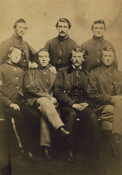 Six members of the 13th Wisconsin Volunteer Infantry Company K.