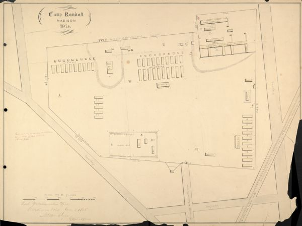 Plan of Camp Randall.