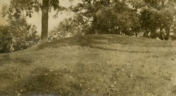 Oval burial mound at the T. Lewis Mound group in what is now Indian Mounds Park.