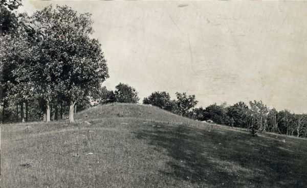A large burial mound near the south side of Governor Nelson State Park.
