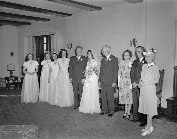 Hadley Whitman Wedding Party Photograph Wisconsin Historical Society