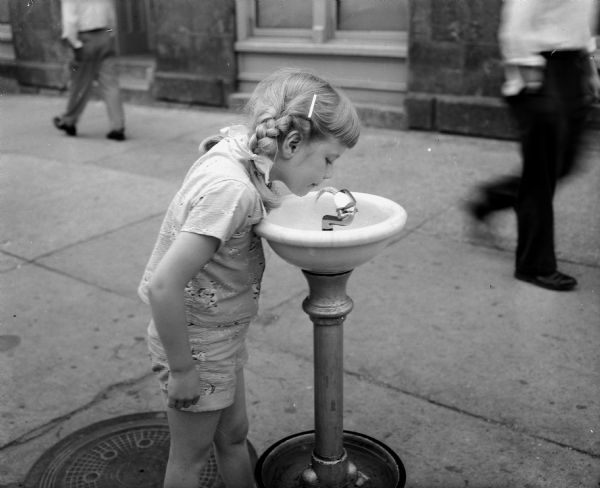 Public Outdoor Drinking Fountain Photograph Wisconsin