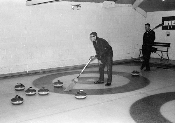 The Bob Mortensen Rink of Madison won the Garver for second event of the Madison Invitational Bonspiel at the Madison Curling Club. One of twelve images.