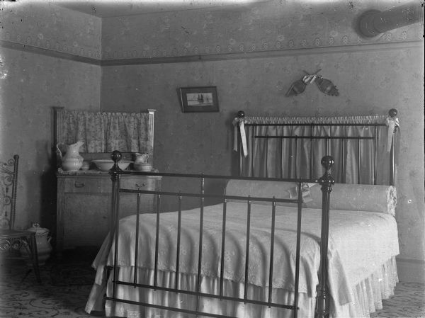 interior of bedroom photograph wisconsin historical society rh wisconsinhistory org 1980s bathrooms 1980s rooms