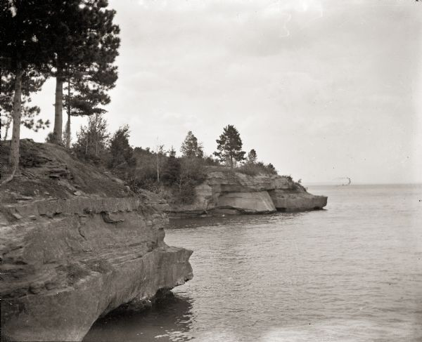 View of Hougton Point and Bayfield from Madeline Island.