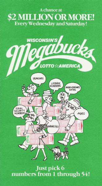 How To Play Megabucks Pamphlet Print Wisconsin Historical Society