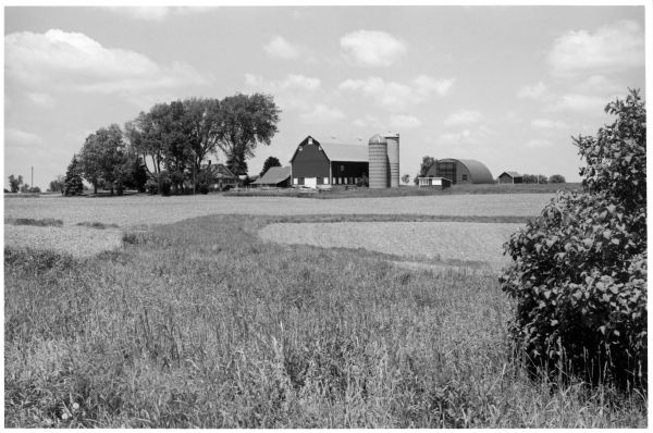 A landscape view of the Quinney farm.
