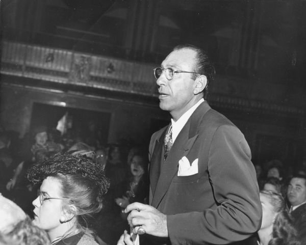 Herbert Biberman, one of the blacklisted Hollywood Ten who were jailed for failure to testify to the House Un-American Activities Committee about Communist Party associations.