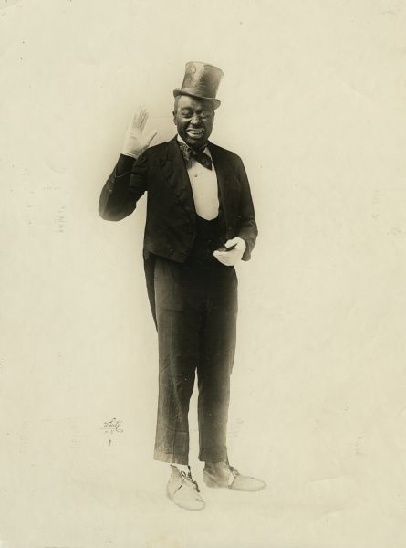 White Studio portrait of vaudevillian Bert Williams.