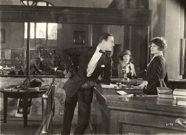 "Louis Calhern and Claire Windsor in ""The Blot"" (Lois Weber Productions)."