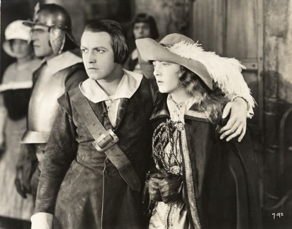 Scene still from <i>The Fighting Blade</i> showing Richard Barthelmess with his arm around Dorothy Mackaill (Inspiration 1923).