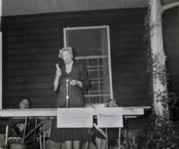 Eleanor Roosevelt with Myles Horton and May Justus