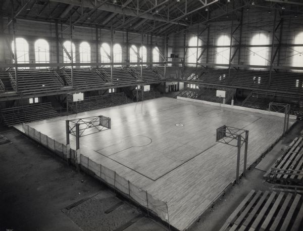 Basketball Court In Field House Photograph Wisconsin Historical Society