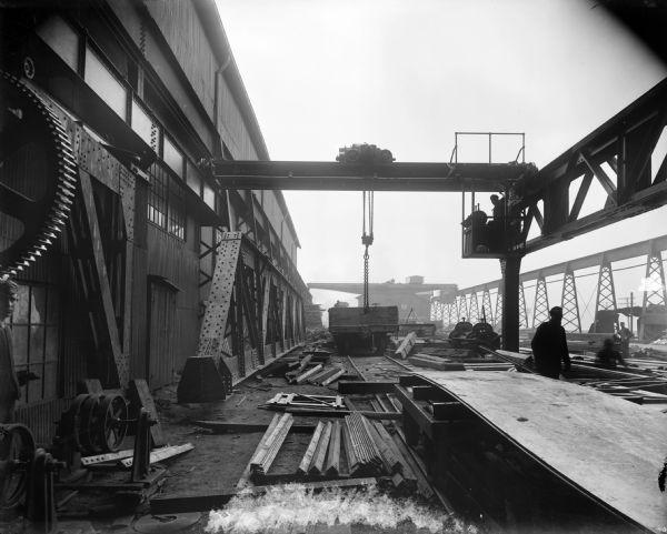 P&H 5-Ton Interior Crane | Photograph | Wisconsin Historical