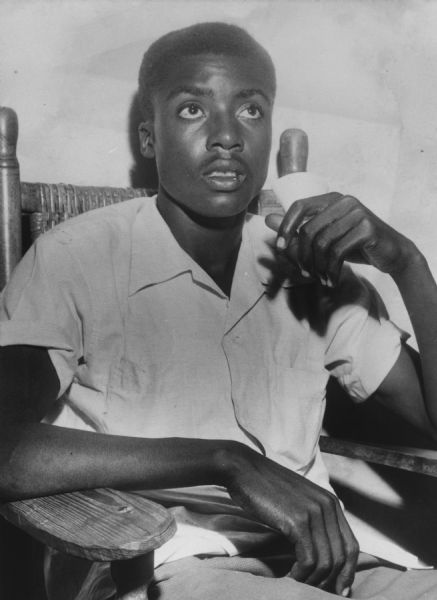 "Willie Reed, an 18-year-old ""surprise"" witness who bravely testified during the murder trial of 14-year-old Emmett Till, correctly identifying the white defendants. Despite Reed's testimony, the defendants were not convicted."