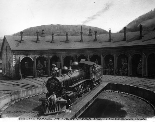 Roundhouse Train Depot | Photograph | Wisconsin Historical