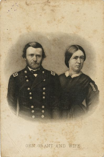 ulysses s grant and wife print wisconsin historical society ulysses s grant and wife