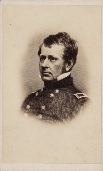 Engraved vignetted carte-de-visite portrait of Major General Joseph Hooker. General Hooker received a commission of Brigadier General from President Lincoln following the Union defeat at the First Battle of Bull Run. In May 1862, after the Battle of Williamsburg, he was promoted to Major General and went on to command forces at the battles of Antietam, Fredericksburg, Chancellorsville, and through the Atlanta Campaign.