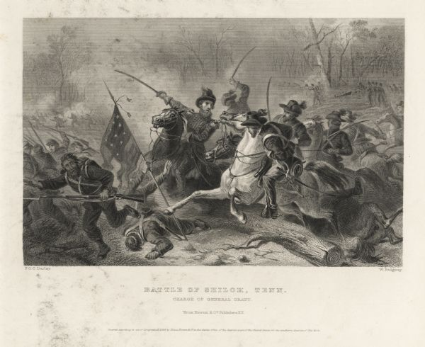 Etching depicting the Battle of Shiloh, Tenn.