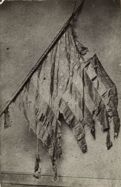 "Battle Flag of Company F, Second Wisconsin Volunteer Infantry, the ""Belle City Rifles."""