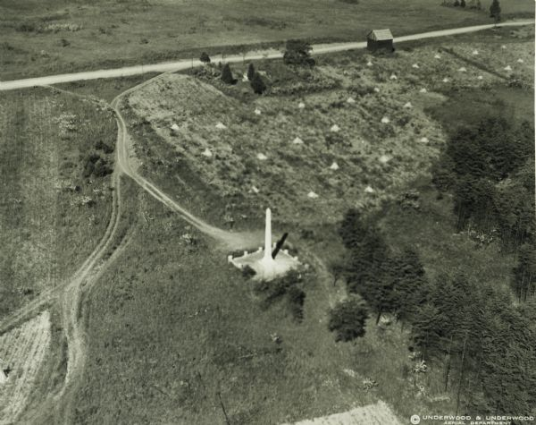 Aerial view of the site of the Confederate surrender in 1865.
