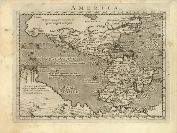 Oldest Map Of America.America Map Or Atlas Wisconsin Historical Society