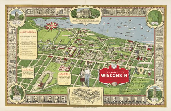 University Of Wisconsin Historical Decorative Map Map Or Atlas