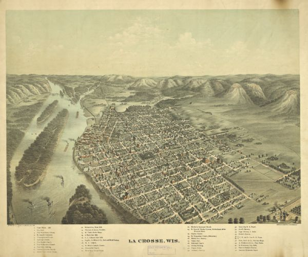 Bird's-eye view of La Crosse.