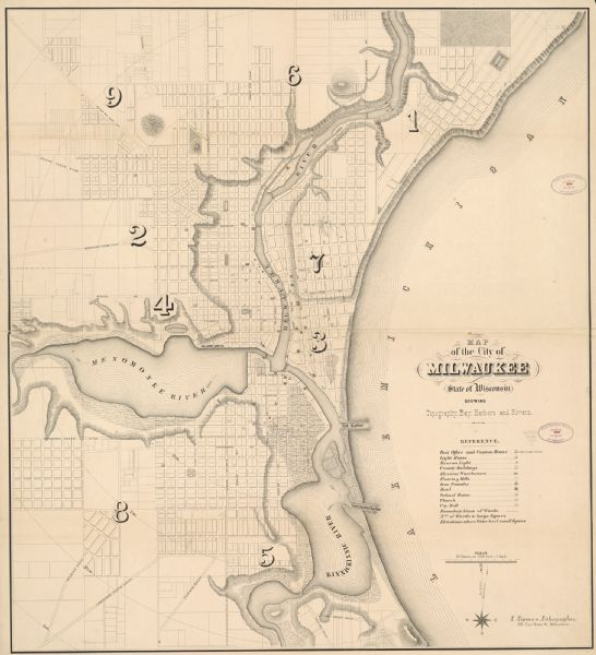 Map of Milwaukee | Map or Atlas | Wisconsin Historical Society