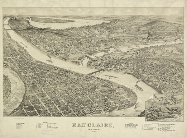Bird's-eye view of Eau Claire.