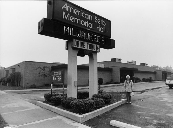 """While in Milwaukee, we visit American Serb Memorial Hall at 5101 Oklahoma Avenue. This is a very famous place for fish fries."" Shirley Widmer is pictured."