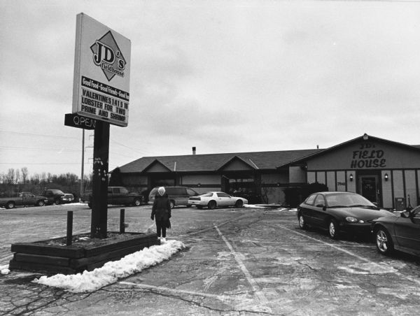 """JD's Fieldhouse, at 7641 Highway 38 in Caledonia, WI, was highly touted for their Fish Fries in Dennis Getto, Milwaukee Journal Sentinel - Restaurant Reviews."""