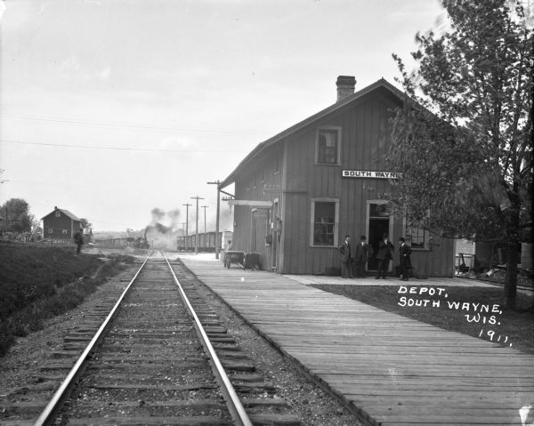South Wayne Depot Photograph Wisconsin Historical Society