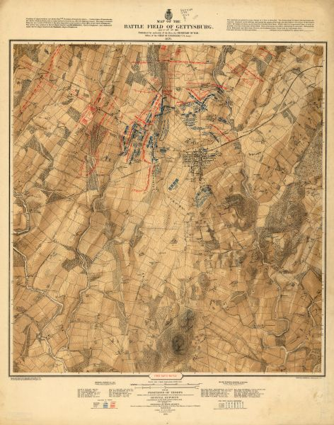 Map Of The Region Between Gettysburg Pa And Appomattox Court - Appomattox court house us map