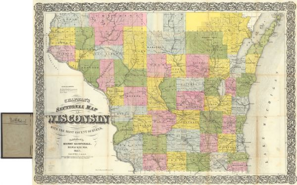 Drawn a decade after Wisconsin entered statehood, this 1858 map depicts counties, creeks, rivers, lakes, railroads completed, railroads in progress and common roads.