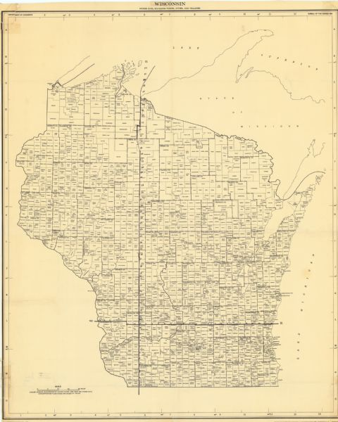 Wisconsin : Minor Civil Divisions Towns Cities and Villages | Map or ...