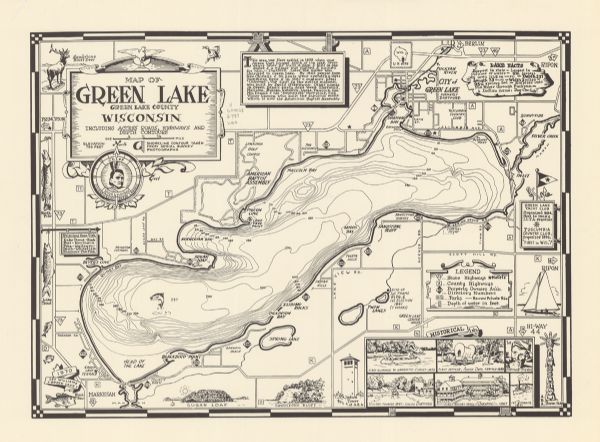 Map of Green Lake, Green Lake County, Wisconsin | Map or ...
